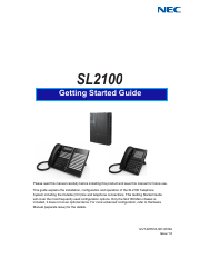 NEC SL2100 Getting Started Manual