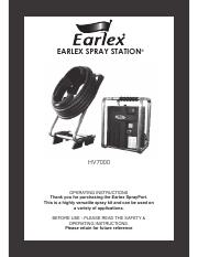Earlex SPRAY PORT HV 7000 Operating Instructions Manual