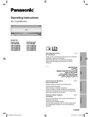 Panasonic CS-A12PKD Operating Instructions Manual